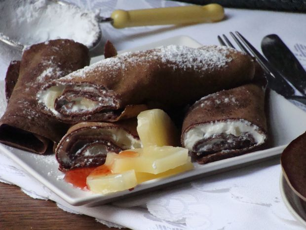 Przepis  czekoladowe naleśniki przepis