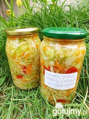 Przepis  sałatka z białej kapusty i pomidorów przepis