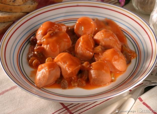 Parówki w sosie słodko-kwaśnym