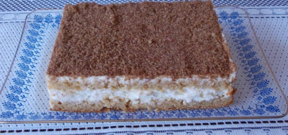 Ciasto miodowe z bitą śmietaną i jabłkami (autor: bernadeta1 ...