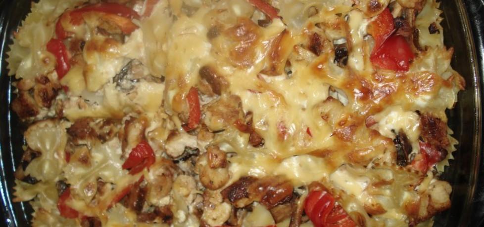 Zapiekanka z filetem, makaronem i pieczarkami (autor: norweska20 ...
