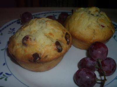 Muffinki z żurawiną i chałwą