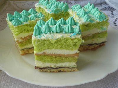 Ciasto zielone tarasy
