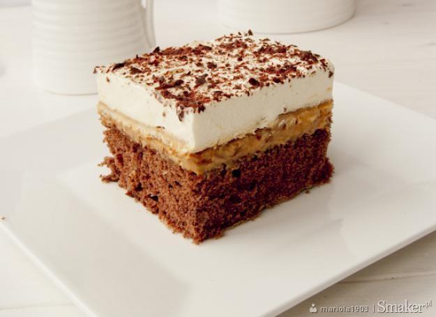 Ciasto z kremem krówkowym.