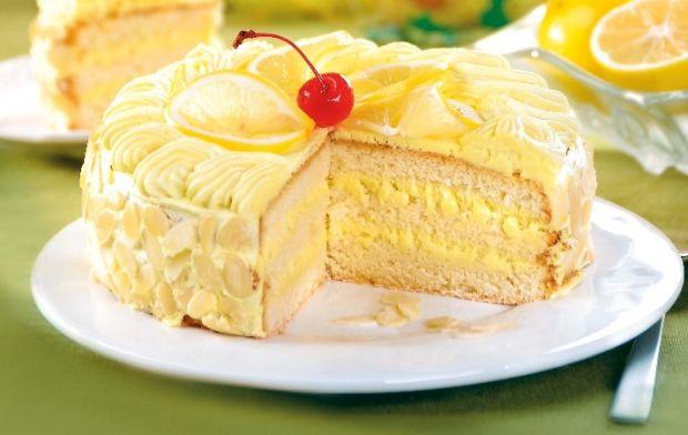 Przepis  tort z cytrynową nutą przepis