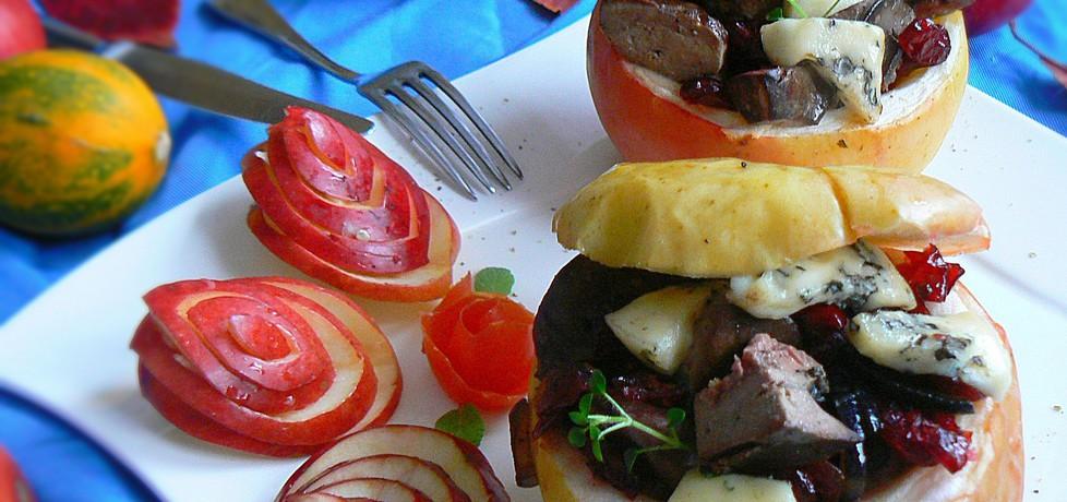 Jabłka zapiekane z wątróbką, żurawiną i serem lazur (autor ...