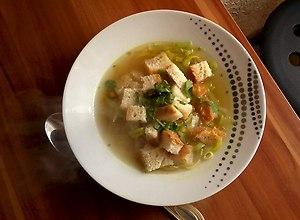 Zupa porowo- czosnkowa  prosty przepis i składniki