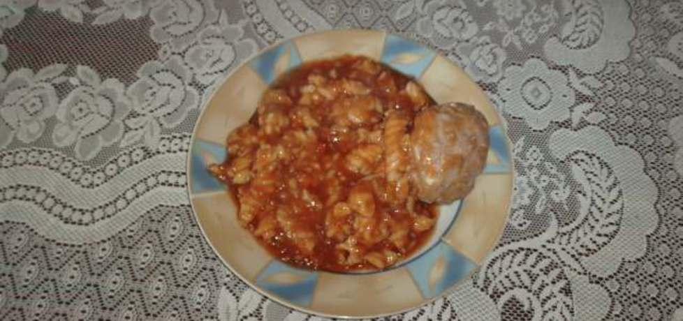 Pulpety z makaronem w sosie pomidorowym (autor: halina17 ...