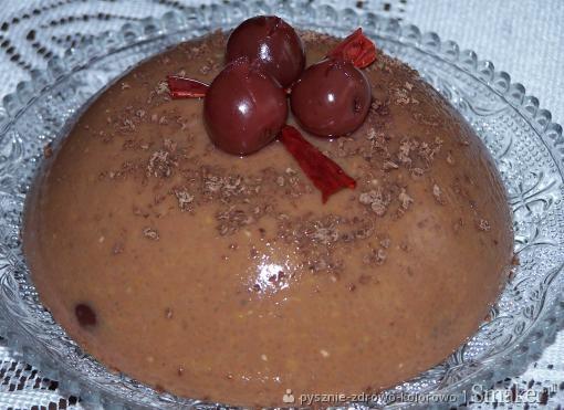 Pudding czekoladowo  wiśniowy z nutką chili
