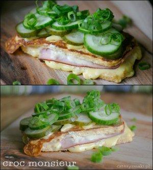 Croque monsieur. francuski tost wersja dietetyczna