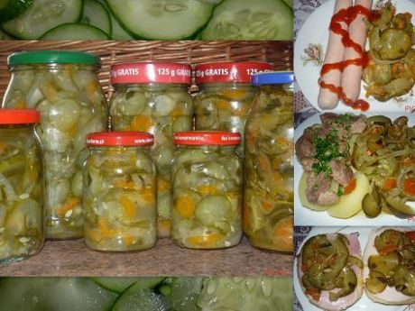 Sałatka z ogórków na zimę  przygotowanie