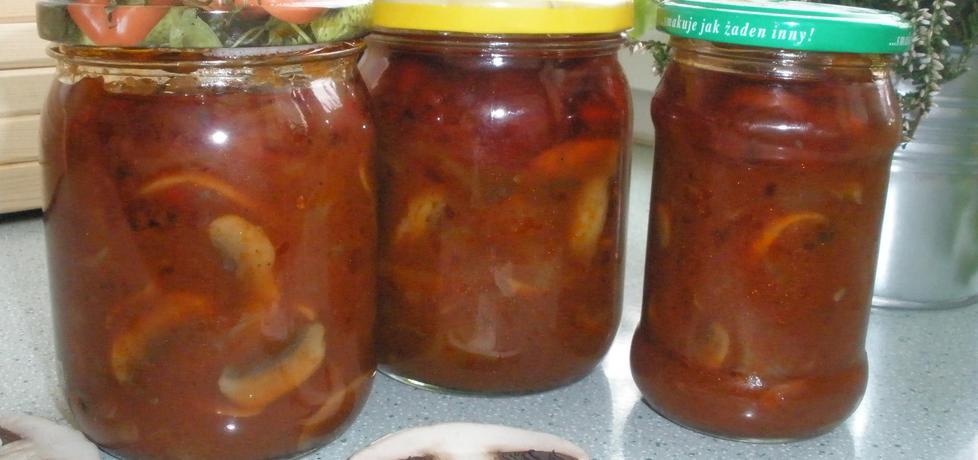 Pieczarki w sosie pomidorowym (autor: cukiereczek13 ...