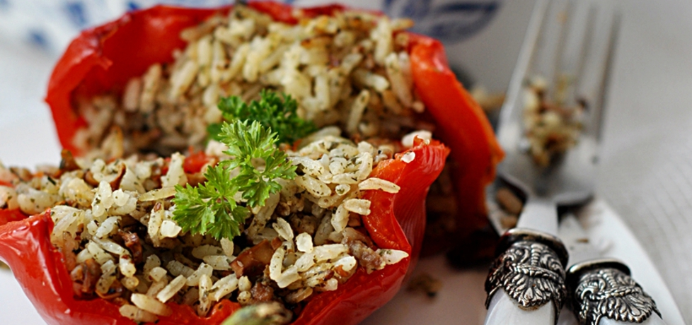 Papryka faszerowana ryżem, mięsem i kurkami (autor: jolantaps ...