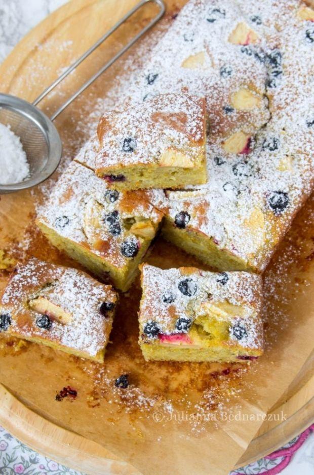 Przepis  ciasto jogurtowo-żytnie z jabłkami przepis