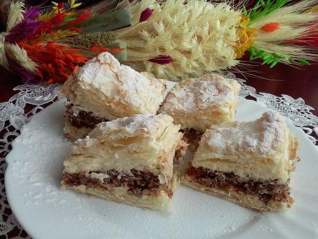 Przepis  ciasto orzechowe z kremem przepis