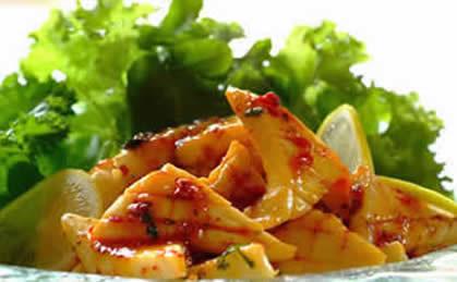 Pikantne kalmary w sosie słodko kwaśnym