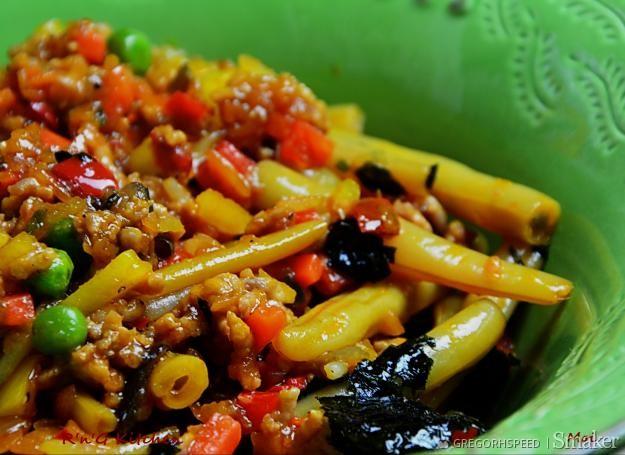 Fasolka szparagowa z mieszanką chińską