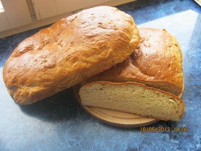 Wiejski pszenny chleb na słodko