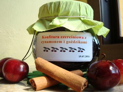 Konfitura czereśniowa z cynamonem i goździkami