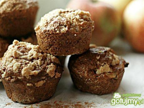 Przepis  muffiny jabłkowe z kruszonką przepis