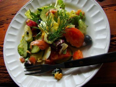Przepis  kolorowa sałatka dietetyczna przepis