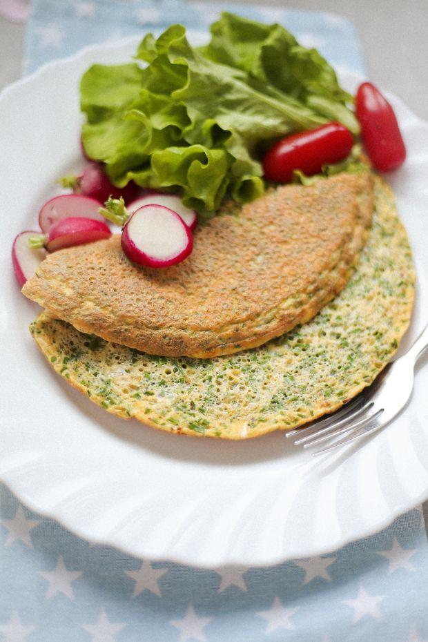 Przepis  omlet ze szczypiorkiem i kurkuma przepis
