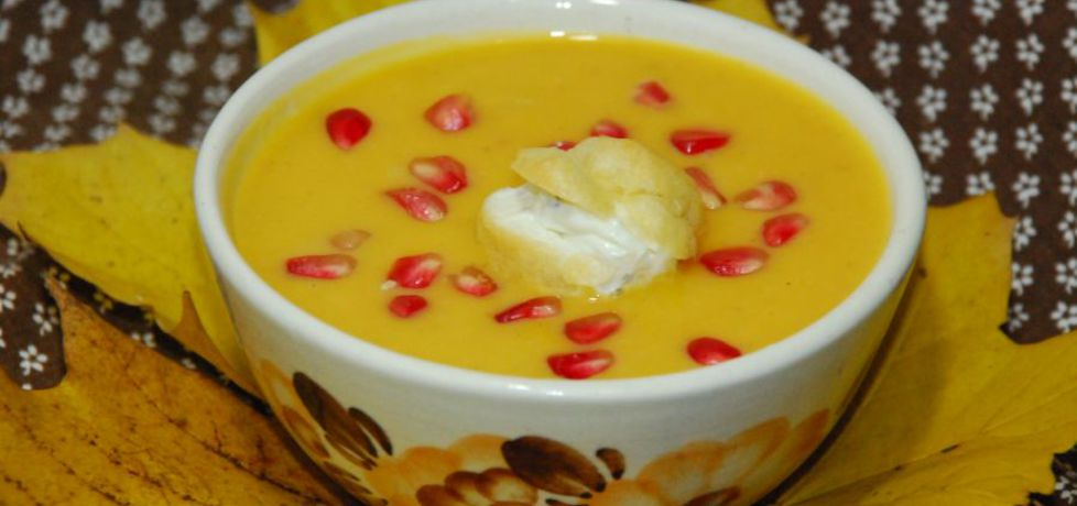 Kremowa zupa z dyni z granatem (autor: magula)