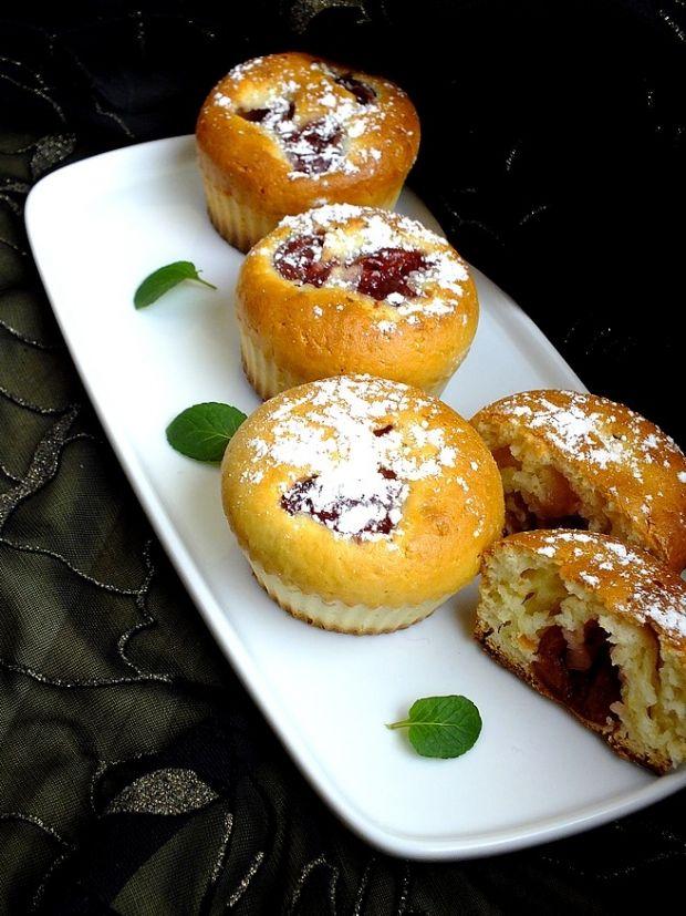 Przepis  cytrynowe muffinki z czereśniami przepis