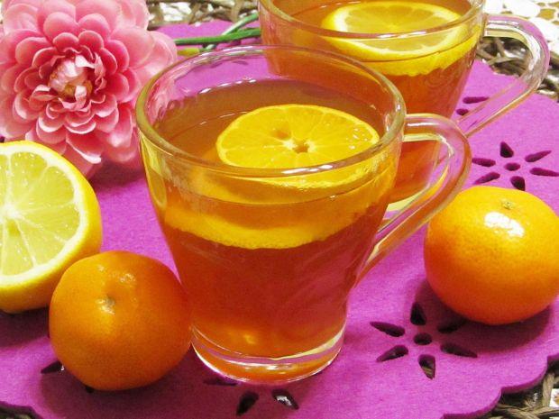 Przepis  rozgrzewająca herbatka miodowo