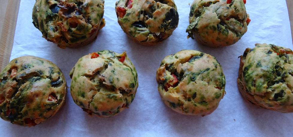 Muffinki ze szpinakiem i innymi dodatkami (autor: cukiereczek ...