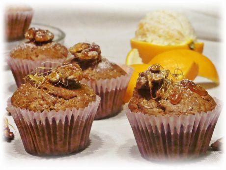 Przepis  muffinki z orzechami przepis