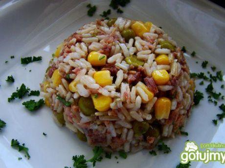 Przepis  ryż z tuńczykiem i warzywami przepis