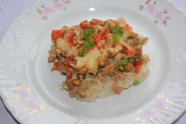 Przepis  zapiekanka gyros z ryżem przepis