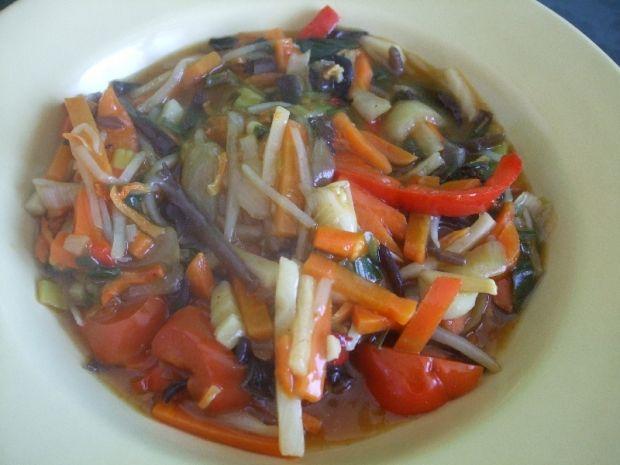 Przepis  chińska niby zupa z patelni przepis