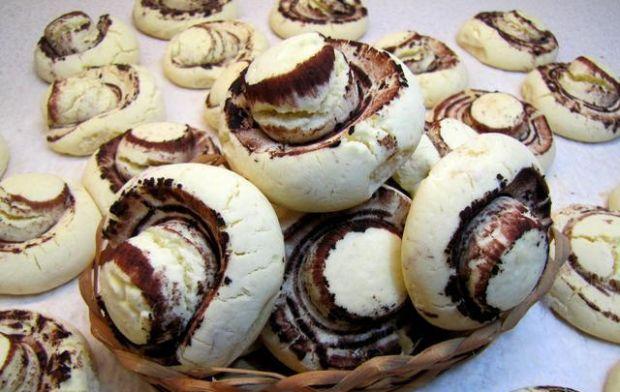Przepis  pieczarki  ciastka z mąki ziemniaczanej przepis