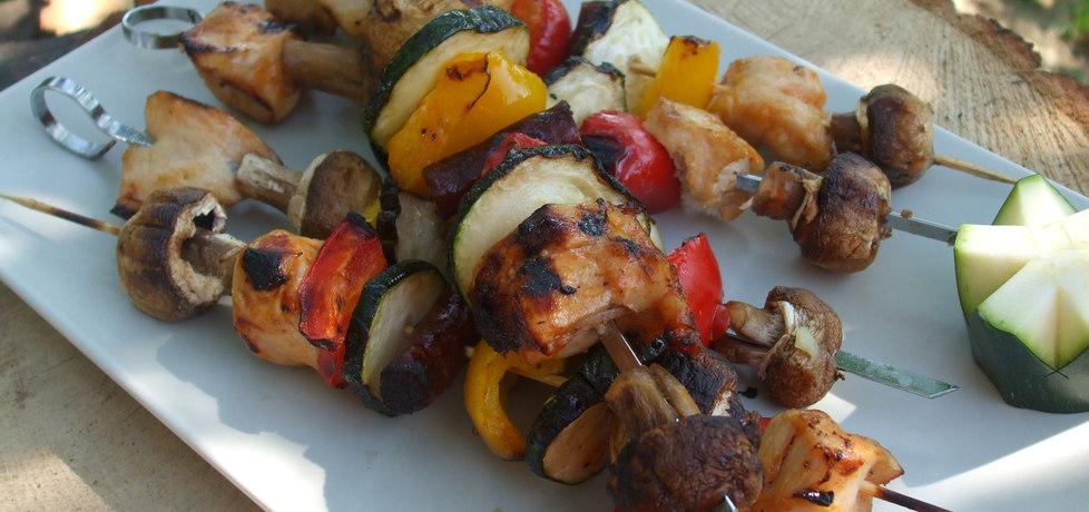 Kolorowe szaszłyki z kurczakiem (autor: afrodyta)
