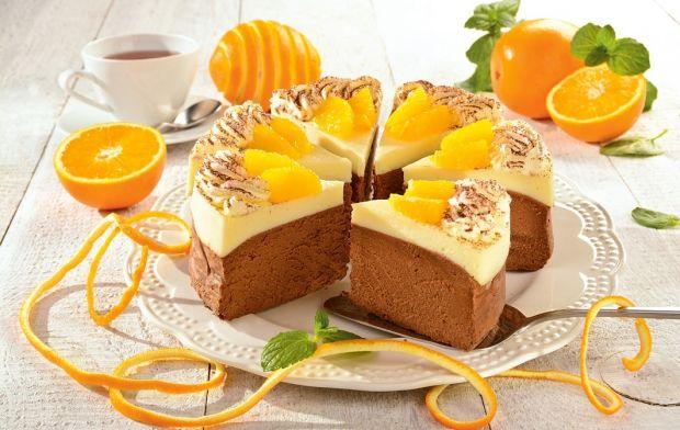 Przepis  czekoladowy sernik z pomarańczami przepis