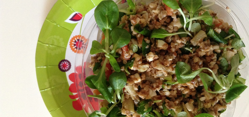 Sałatka z kaszą gryczaną, roszponką i mozzarellą (autor: renata22 ...