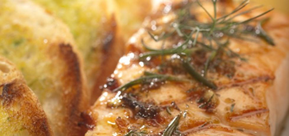 Grill: grillowany łosoś norweski w marynacie czosnkowo ...
