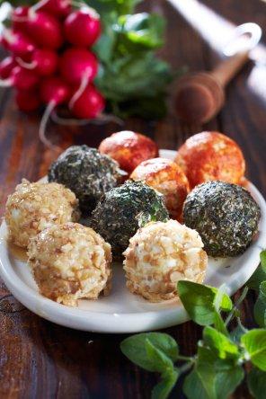 Kolorowe kulki serowe  prosty przepis i składniki