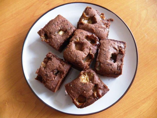 Ciasto czekoladowe z krówkami  ciasta