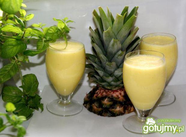 Przepis  śmietankowy koktajl z ananasa przepis