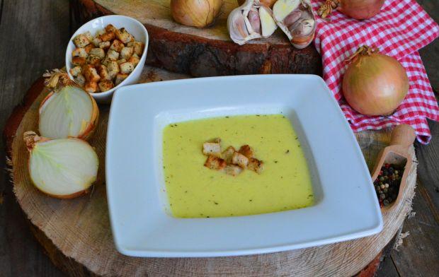 Przepis  zupa cebulowo