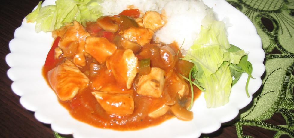 Kurczak z warzywami mocno pomidorowy (autor: berys18 ...