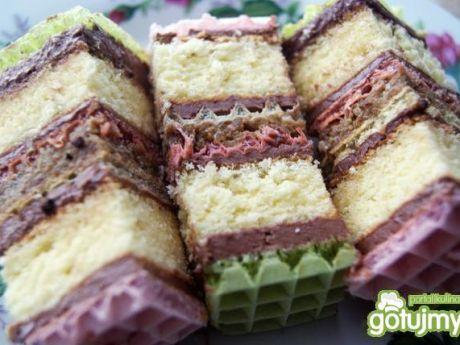 Przepis  ciasto z waflem przekładane przepis