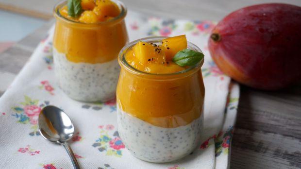Przepis  deser z mango i chia przepis