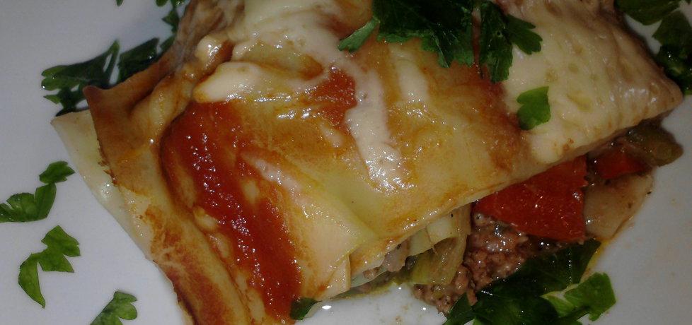 Lazania z mięsem mielonym i warzywami (autor: pietruszka ...