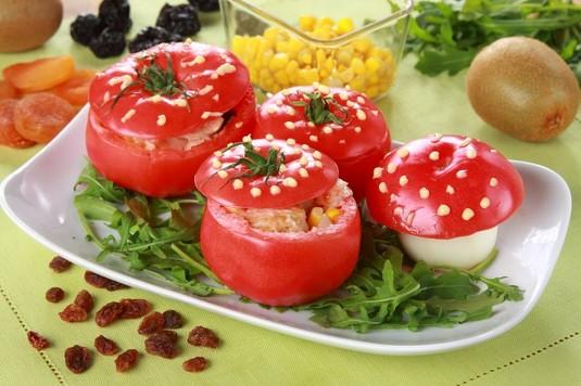 Faszerowane pomidory z kurczakiem