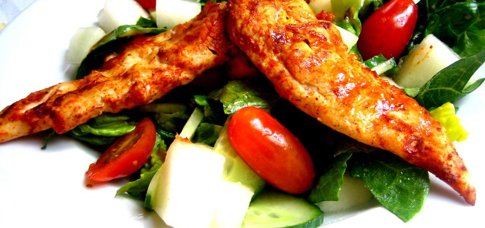 Sałatka z kurczakiem i melonem (autor: brioszka)