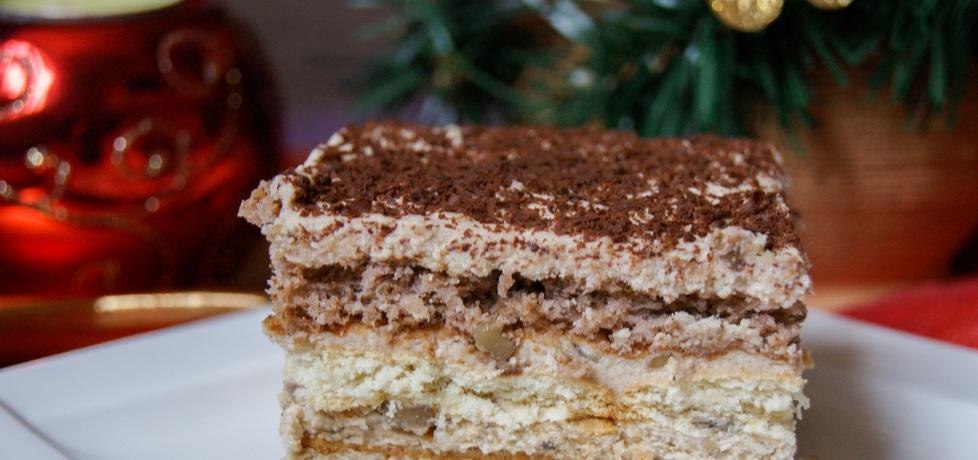 Orzechowe Ciasto z Kremem